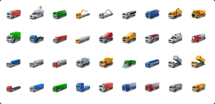 11 Small Icon Trucks Images