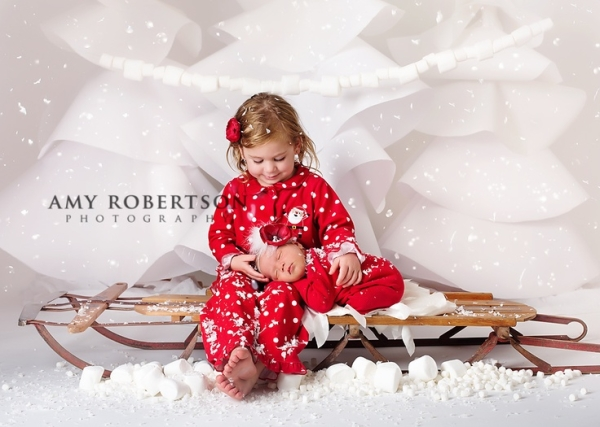 18 Christmas Newborn Sibling Photography Images