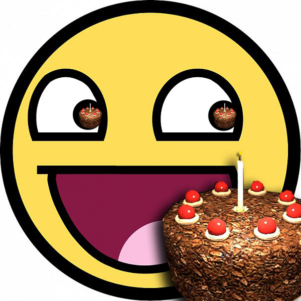 8 Emoticon Eating Cake Images Smiley Face Eating Cake