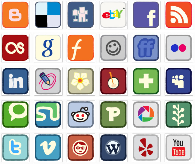 12 Share Icons For Website Images