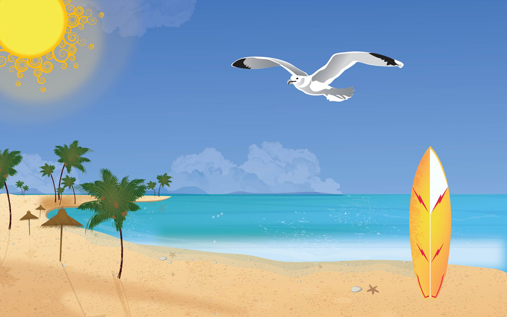 9 Beach Vector Art Images