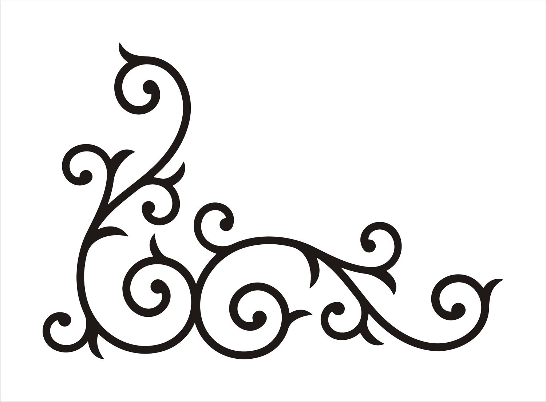 Swirl Corner Borders Clip Art