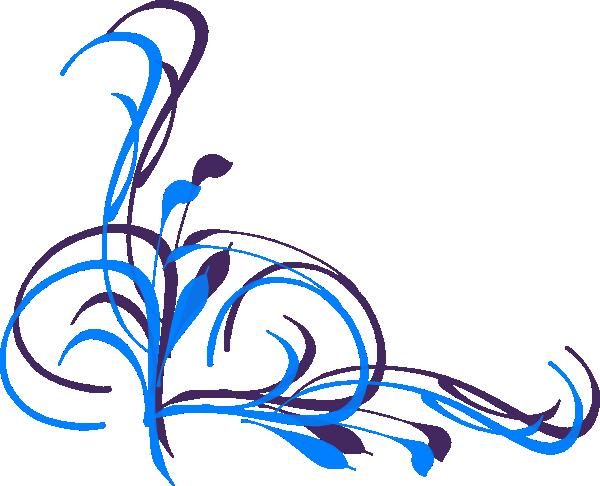 Swirl Corner Designs Clip Art