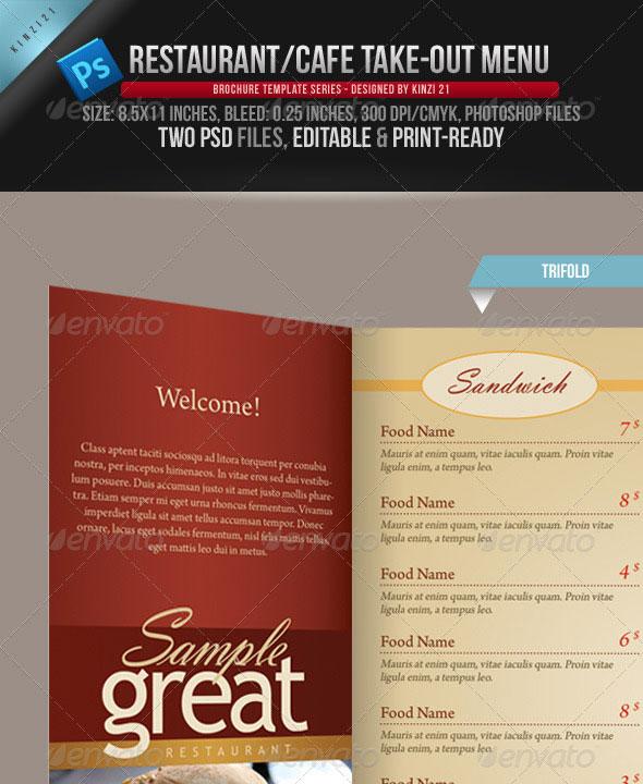 10 psd tri fold menu templates free images tri fold brochure template tri fold menu template for Take out menu template