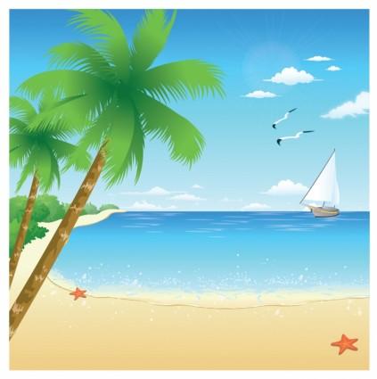 9 Beach Vector Art Images - Summer Beach Clip Art, Beach ...