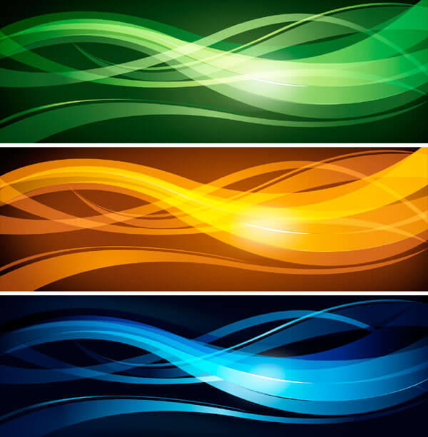 Wavy Abstract Header Design Free
