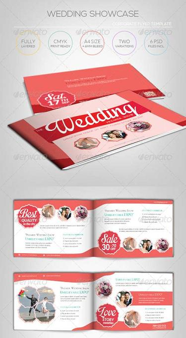 18 free wedding psd template download images free for Free wedding brochure templates download
