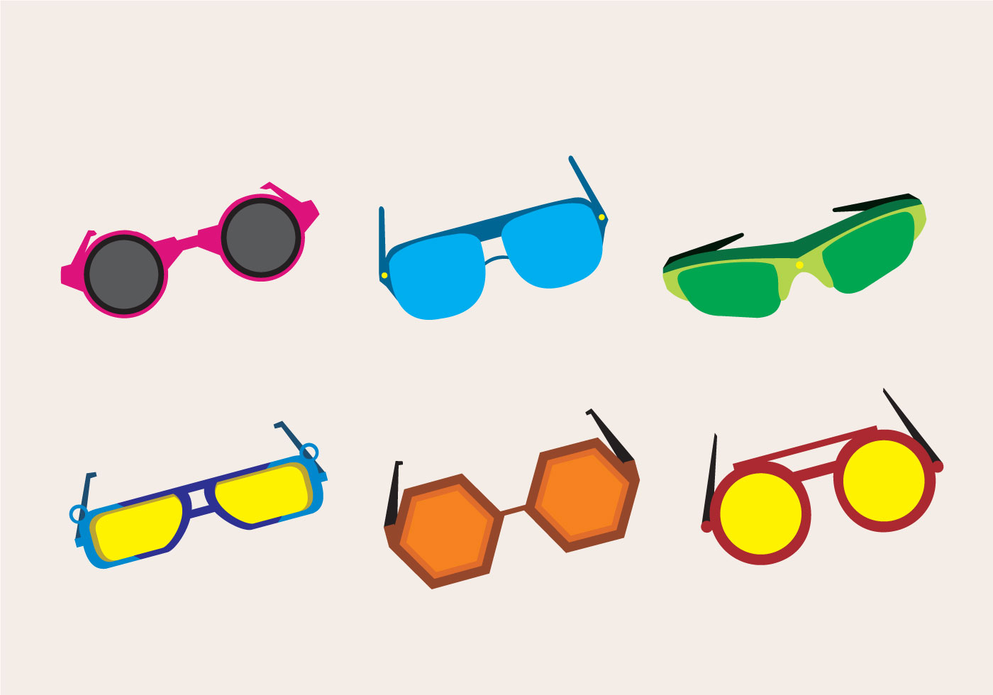 80s Sunglasses Art