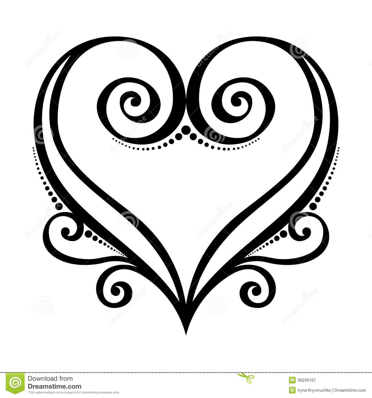 Simple Heart Line Art : Vector line art heart images black and white