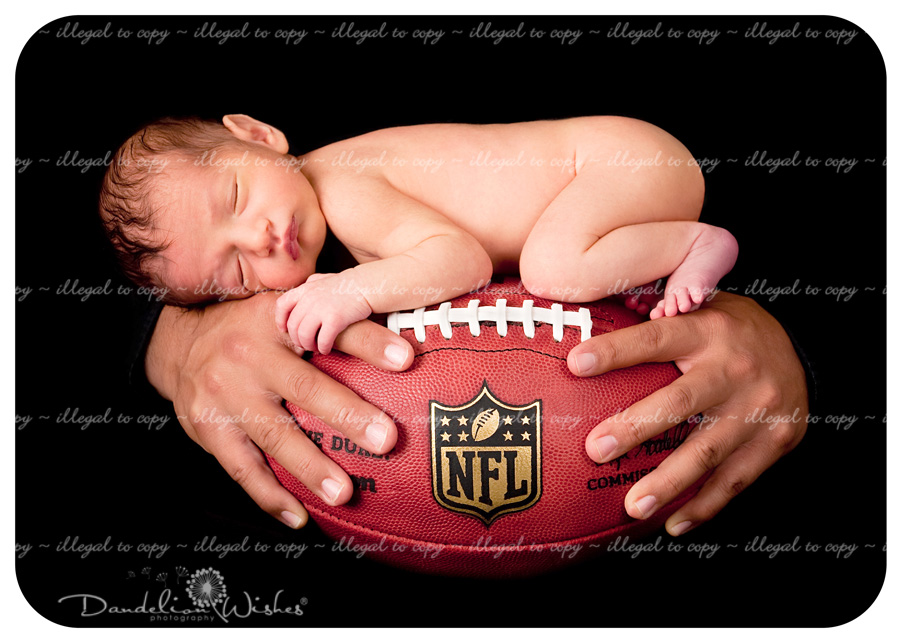 14 Football Newborn Photography Images