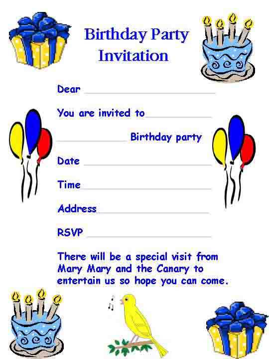 16 celebration card templates images birthday party invitation birthday party invitation templates stopboris Gallery