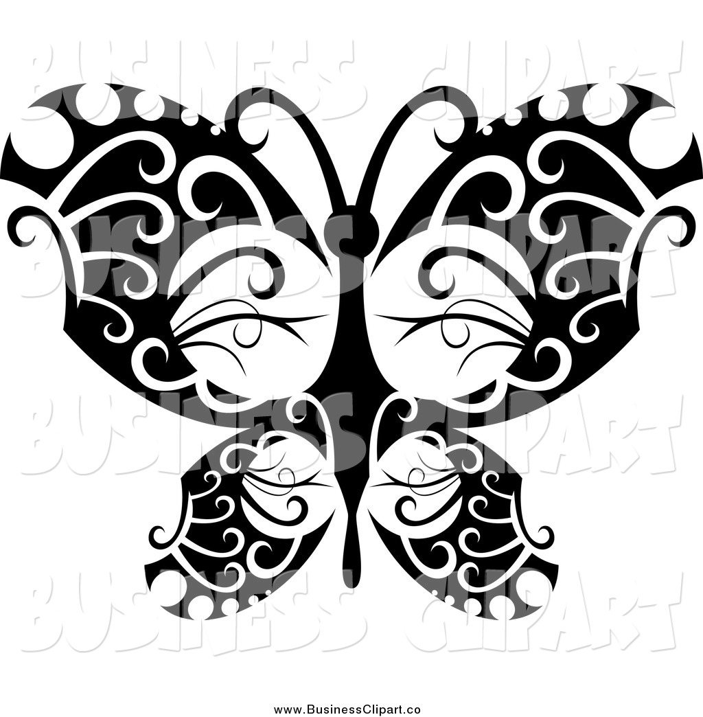 Black and White Butterfly Graphics