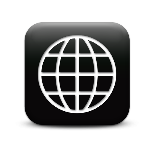 11 Internet Globe Icon Black White Images