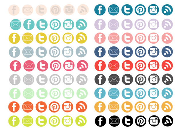 13 Social Media Icons For Blogger Images