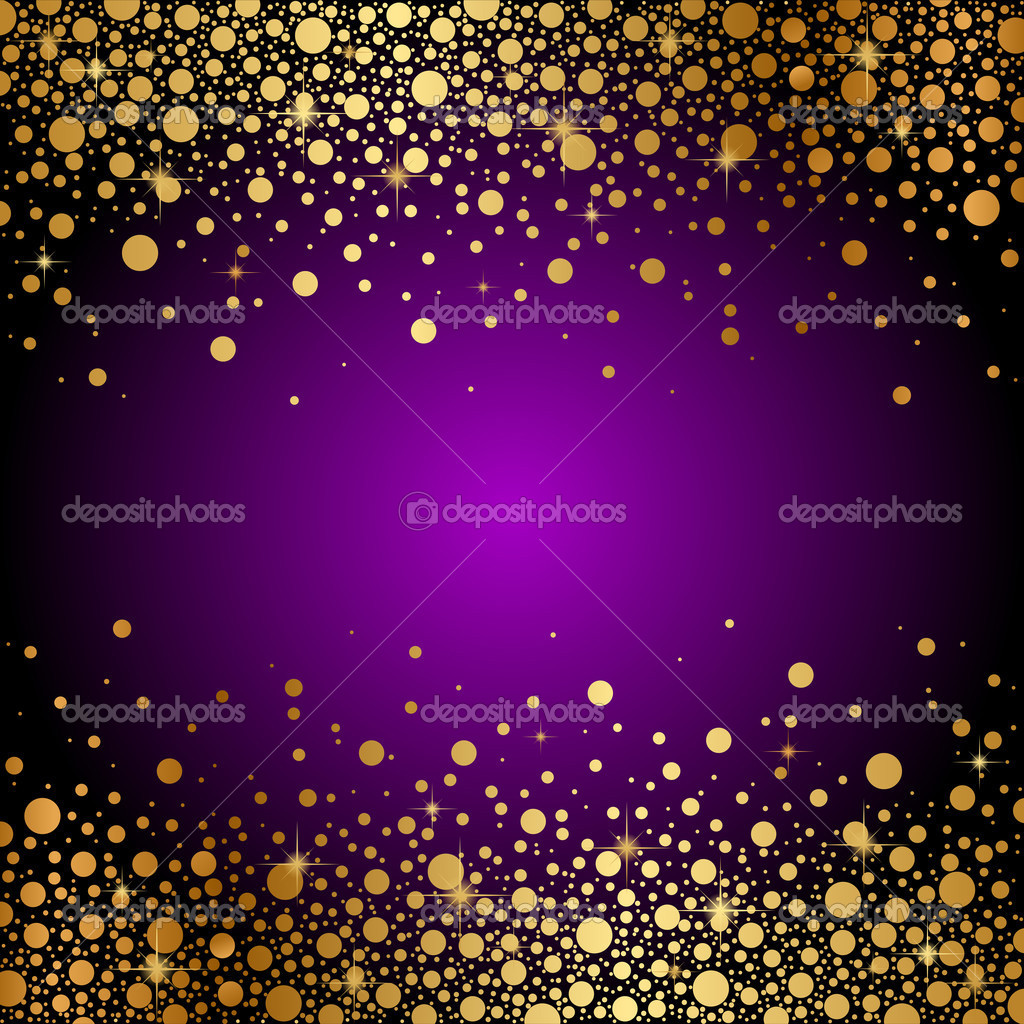 Blue and Gold Sparkles Background