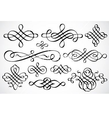 11 Swirl Ornaments Vector Free Images