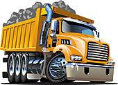 18 Semi Dump Truck Vector Images