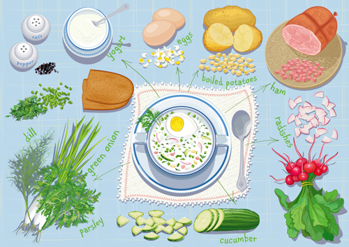 Cartoon Food Pantry