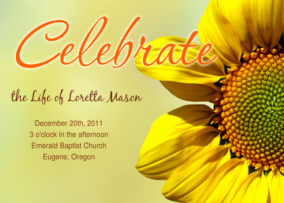 Nice Celebration Of Life Template Images >> Memorial Flyers City ...
