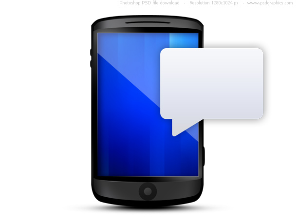 Cell Phone Blank Text Message