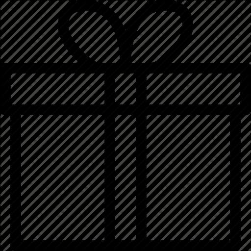Christmas Gift Box Outline