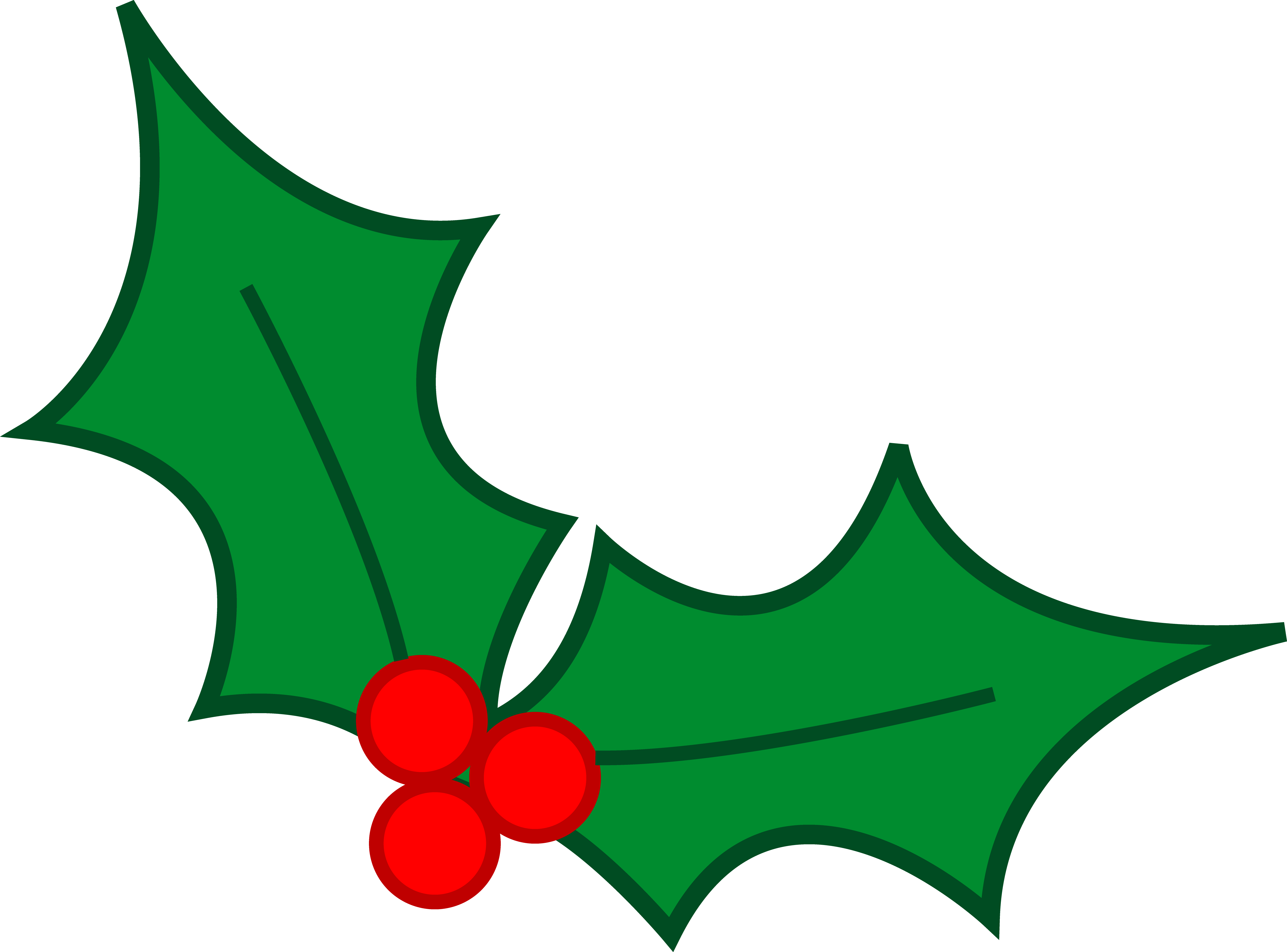 Christmas Holly Leaves Clip Art