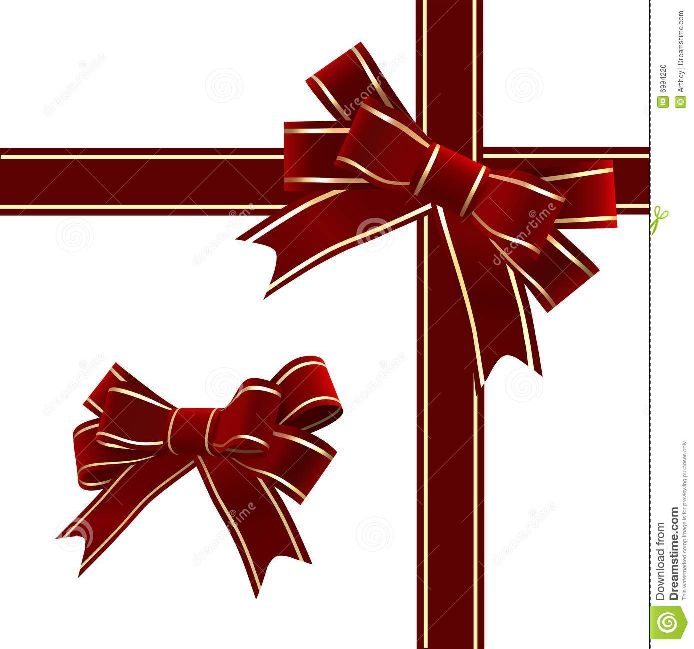 Vector christmas ribbon and bow images free