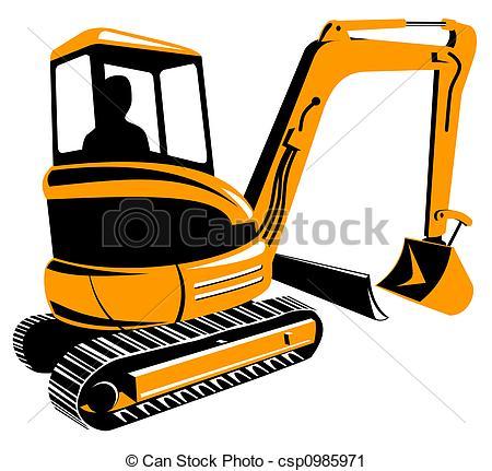 Construction Digger Clip Art