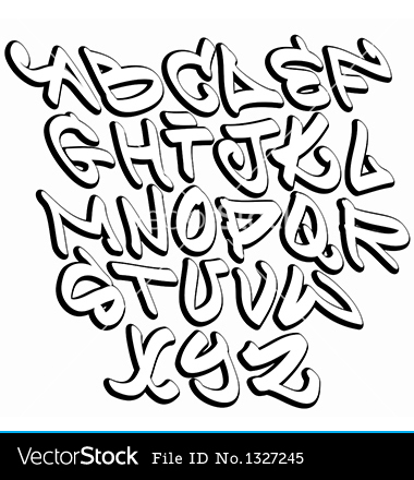 Cool Graffiti Alphabet Fonts