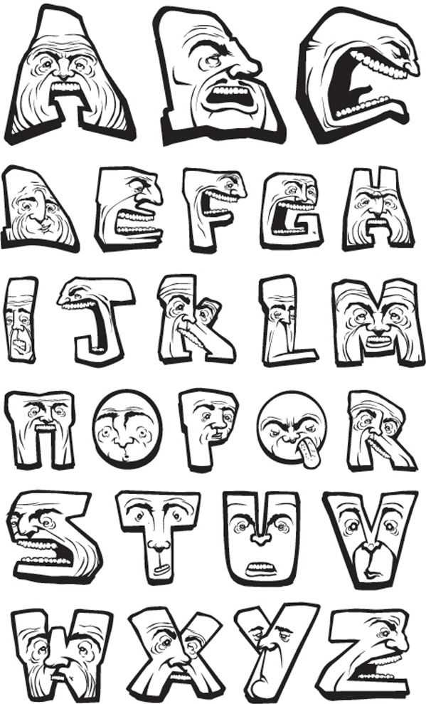 Cool Graffiti Alphabet Letters