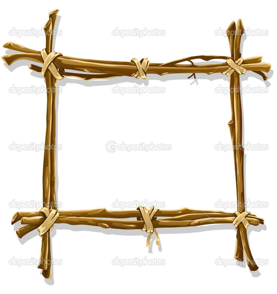 Decorative Wood Framing : Wooden frame vector images frames free