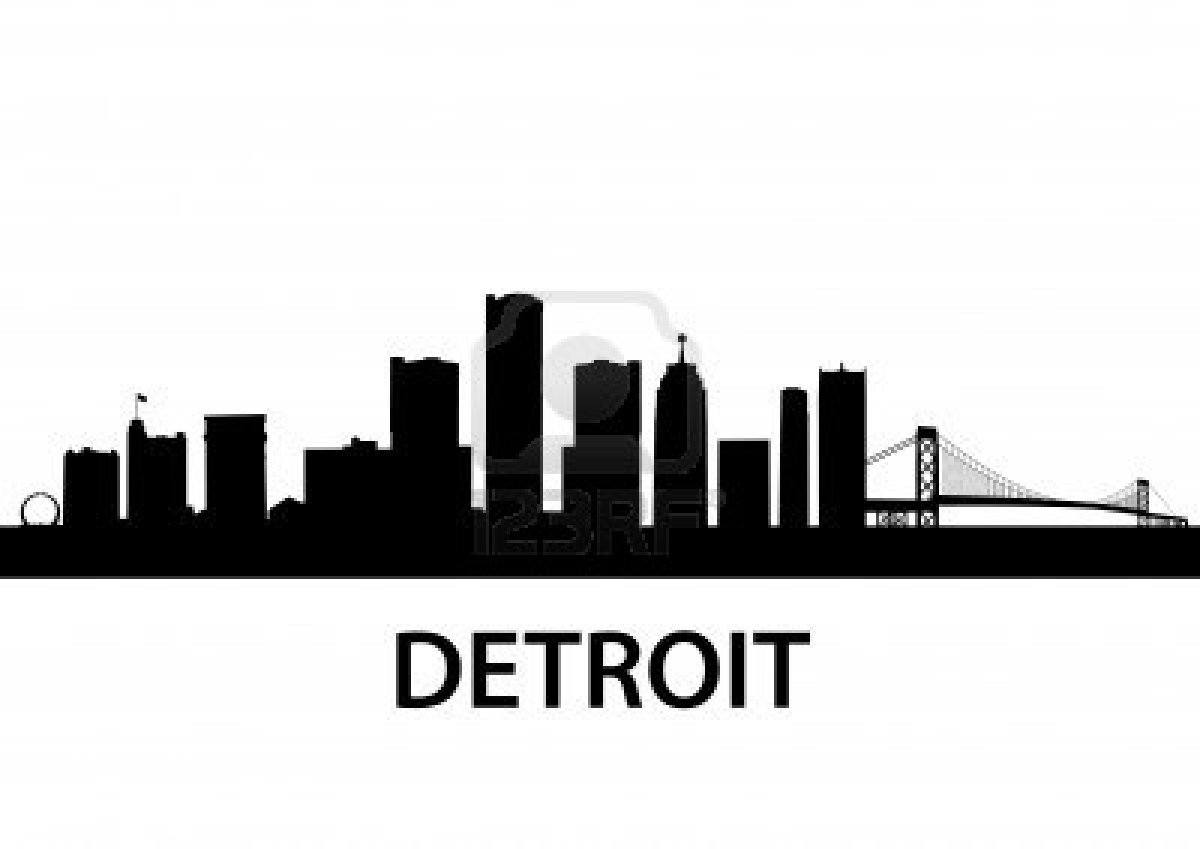 14 Detroit City Skyline Vector Images