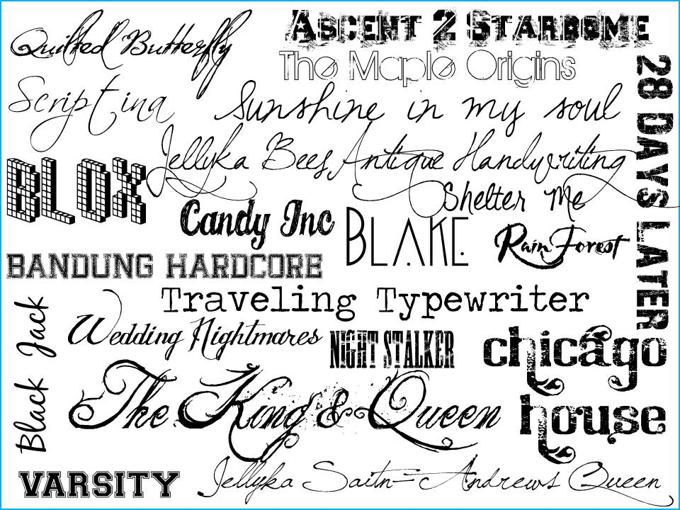 12 different types of fonts free images different font