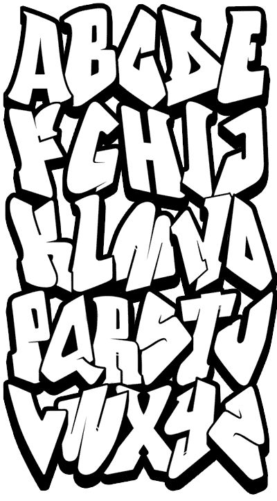Easy Graffiti Alphabet