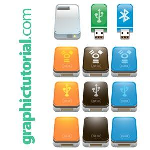 Flashdrive Icons Vector
