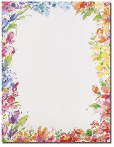 Floral Border Paper