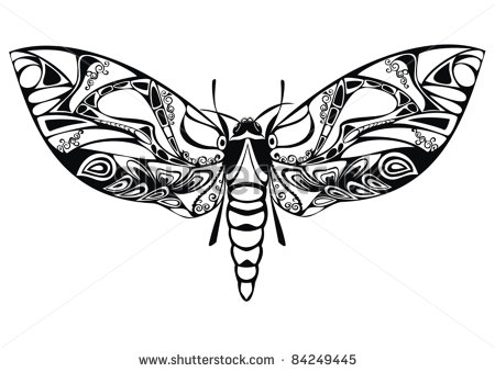 Flourish Silhouette with Butterfly