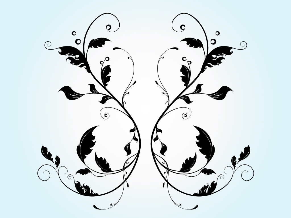 10 Flourish Vector Silhouette Images