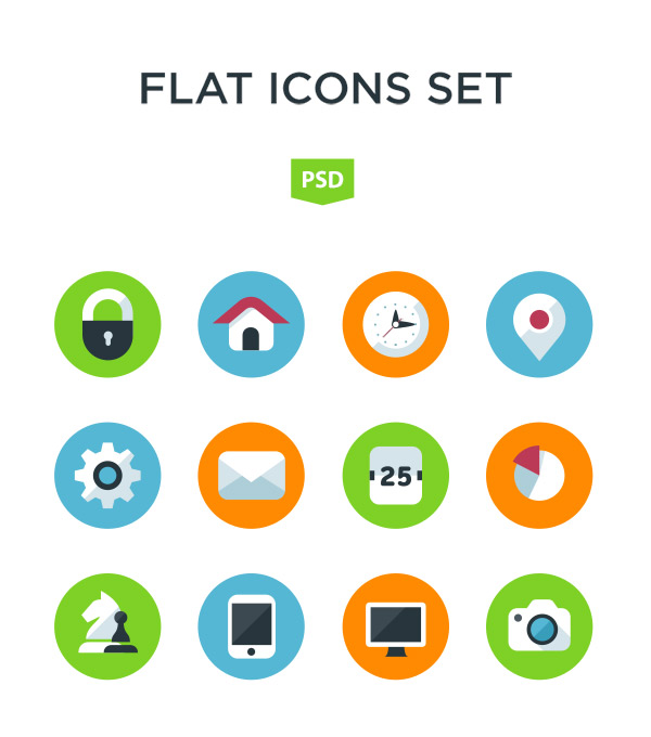 15 Free Flat Icon Sets Rollover Images