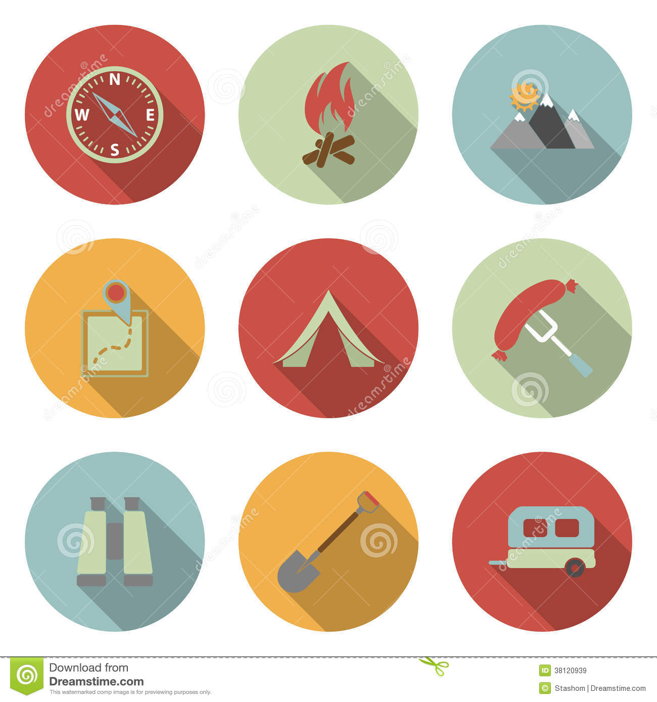 Free Flat Vector Icons Camping