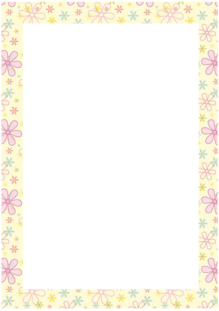 Free Flower Border Clip Art