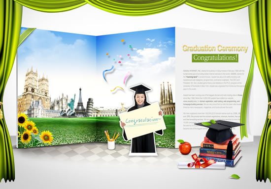 Free Graduation PSD Templates