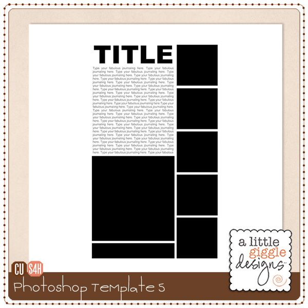 10 Layered Photoshop Templates Free Images