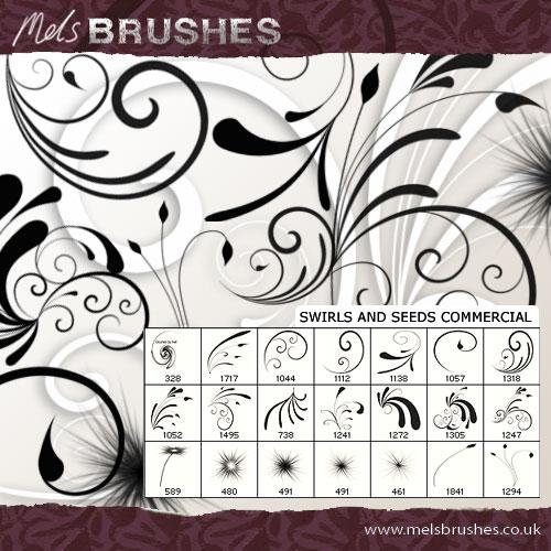 11 Photoshop Swirl Brushes Images - Photoshop Swirl Brush