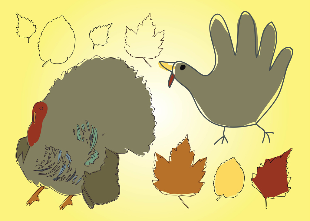 12 Free Turkey Vector Images