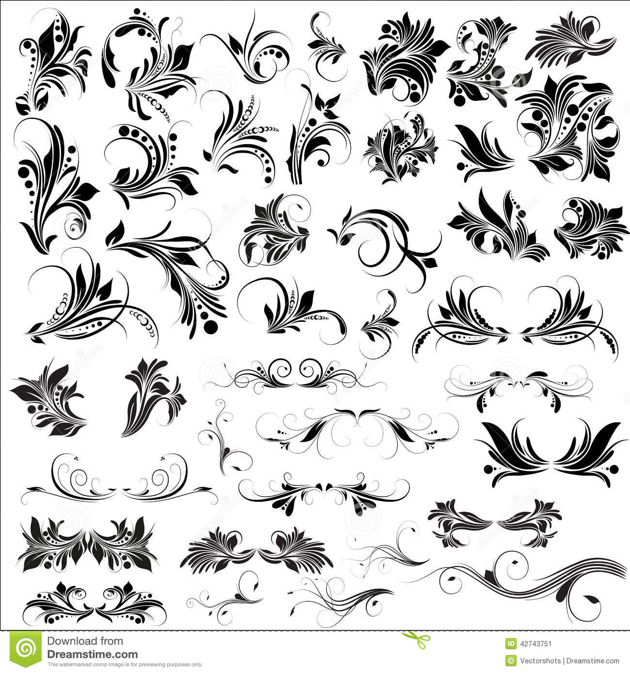 Free Vector Flourish Designs