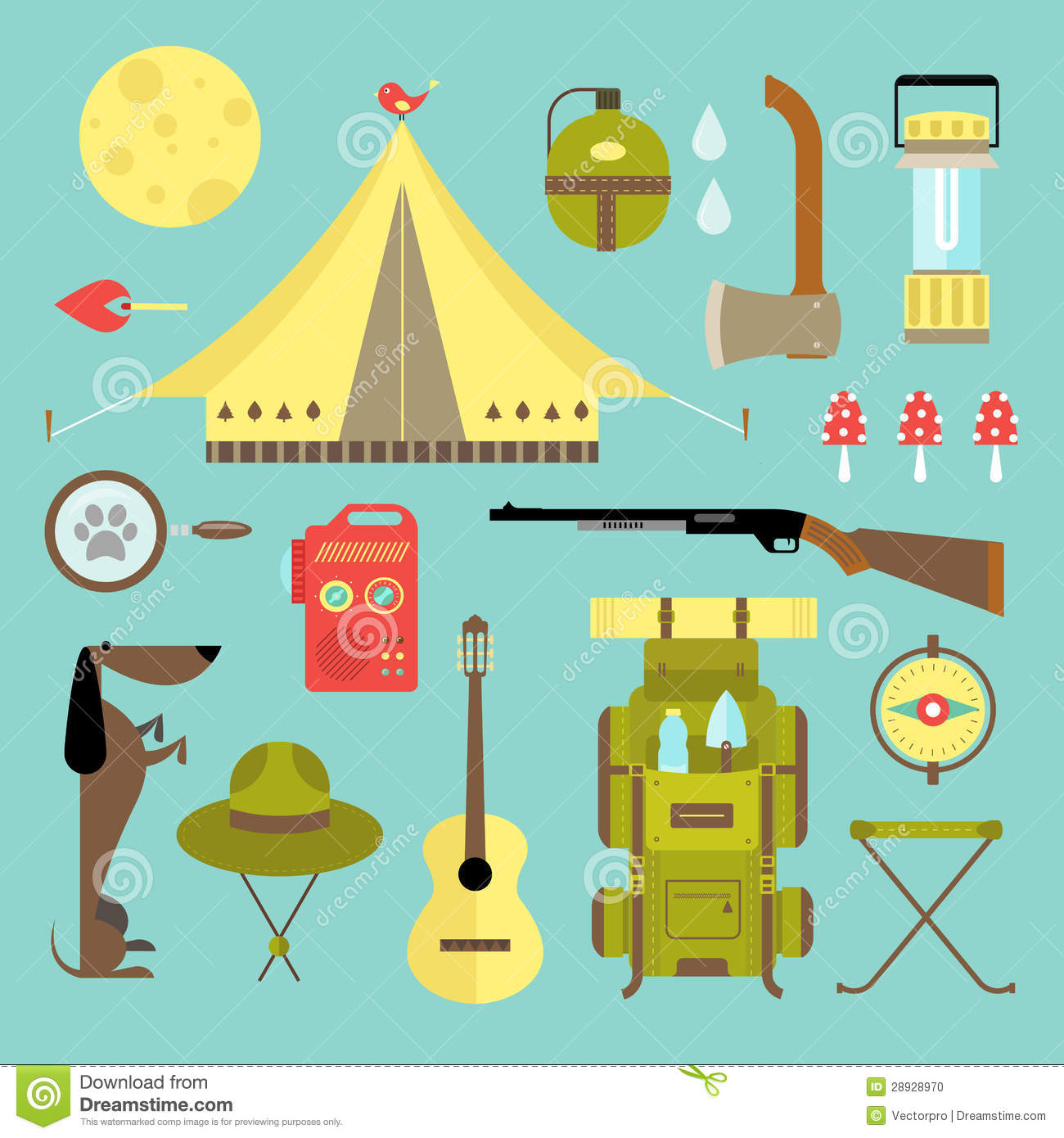 Free Vector Icons Camping