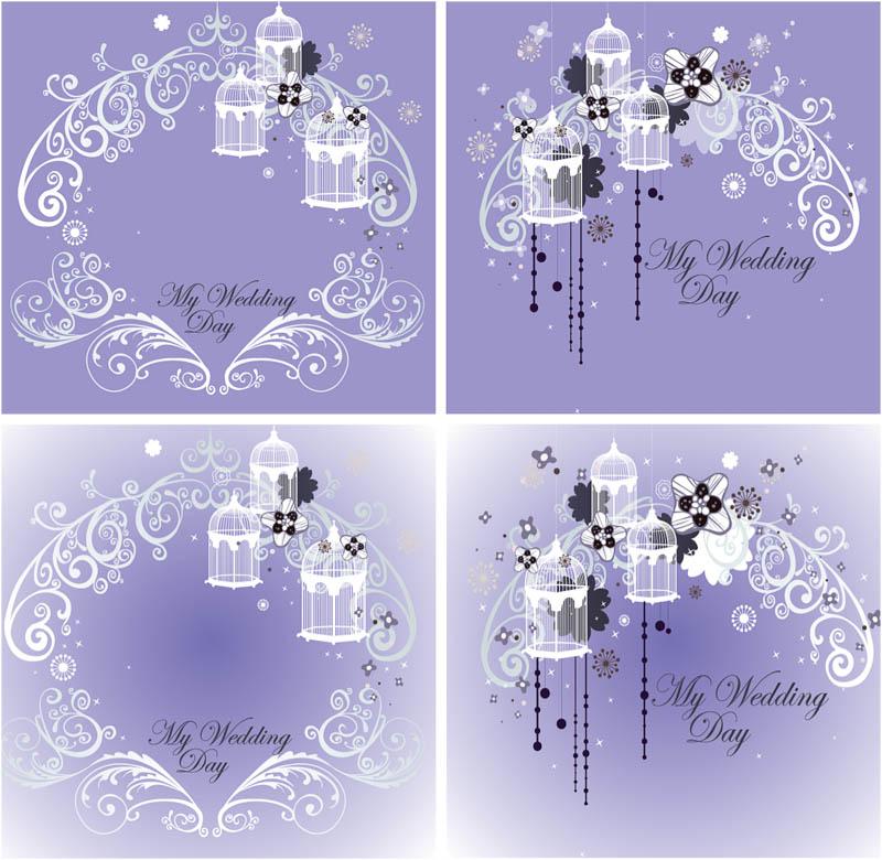 Free Vector Wedding Invitation Template