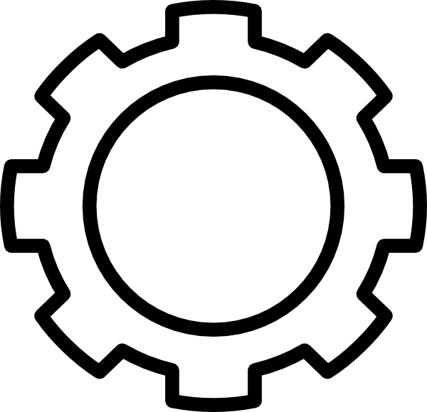 16 Black Gear Icon Vector Images - Gear Cog Clip Art, Gear ...