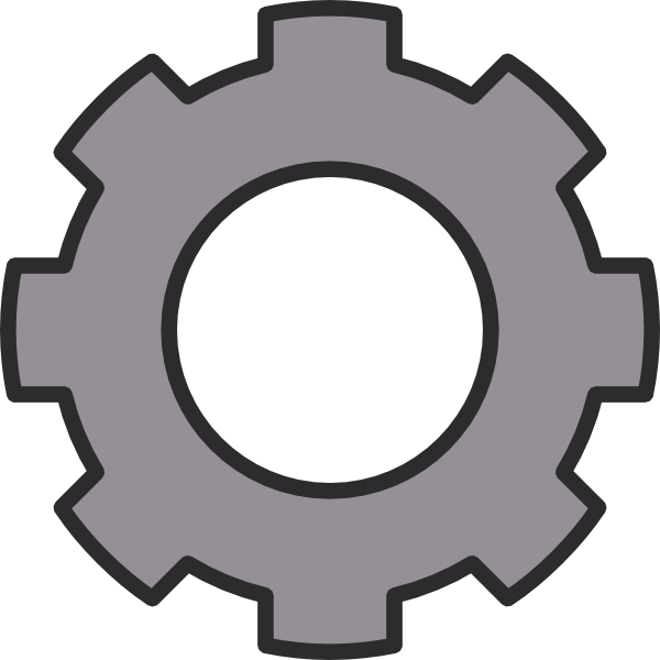 16 Black Gear Icon Vector Images